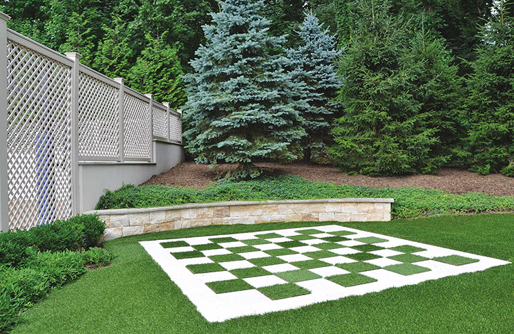 Outdoor Chess Game