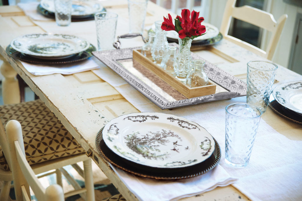 Sustainable Outdoor Table Setting
