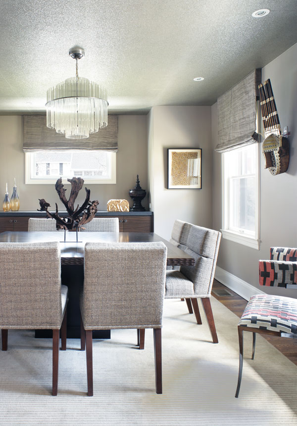 A Built In Buffet Made Of Zebrawood Maximizes Storage And Serving Space Dining Room Niche Magazine Photos Collected By The Homeowner Inspired Many